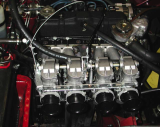 1980 Triumph Spitfire: 5  Keihin High-Flow Quad Carburetor
